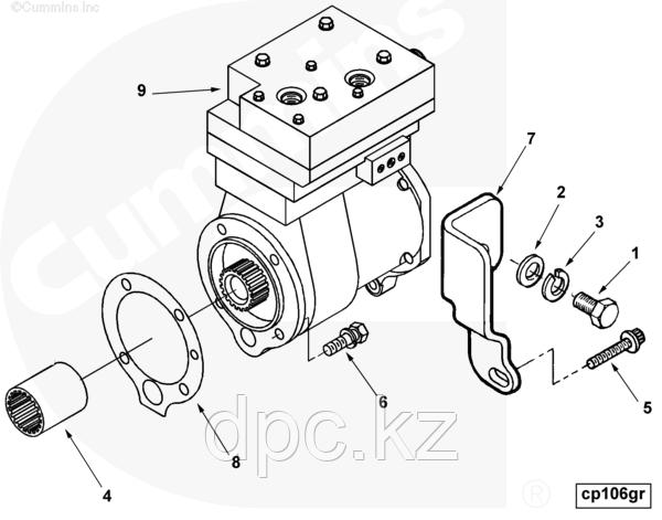 Прокладка воздушного компрессора Cummins N14 3076226 3171119