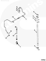 Трубка подачи масла к турбине Cummins KTA19 4094811