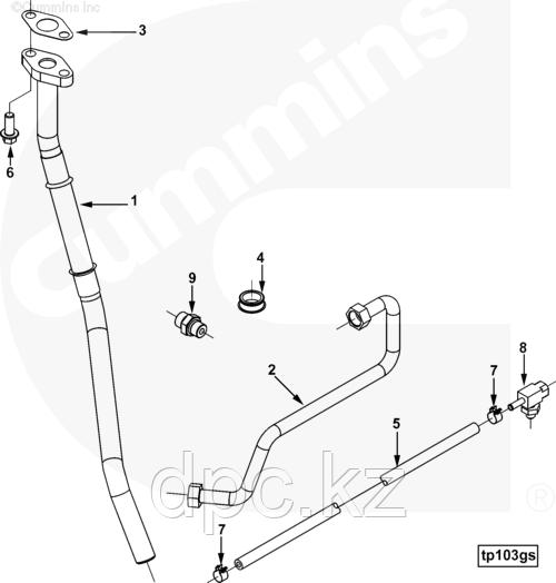 Трубка слива масла с турбины Cummins ISX QSX 3100127