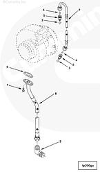 Прокладка трубки слива масла с турбокомпрессора Cummins ISM QSM 3899343