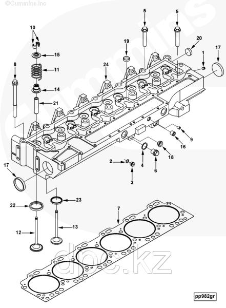 Седло клапана выпускного Cummins CGE280 GAS PLUS 3933088 3927257