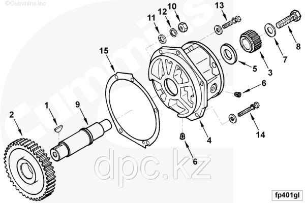 Привод вспомогательных агрегатов Cummins KTA19 4986318 3016735 3005144 AR-10599 3017472