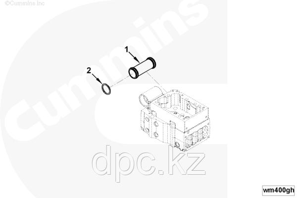 Кольцо уплотнительное патрубка перепускного водяного Cummins KTA19 3028291 145608