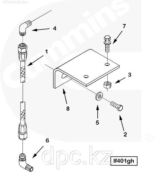 Переходник трубки топливного фильтра Cummins KTA-19 144378