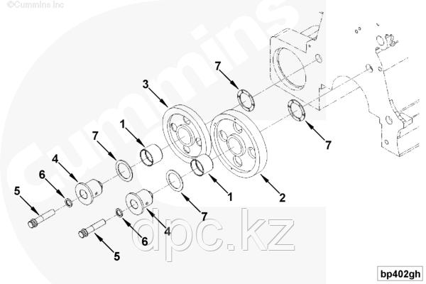 Болт шестерни ГРМ Cummins KTA-19 207527