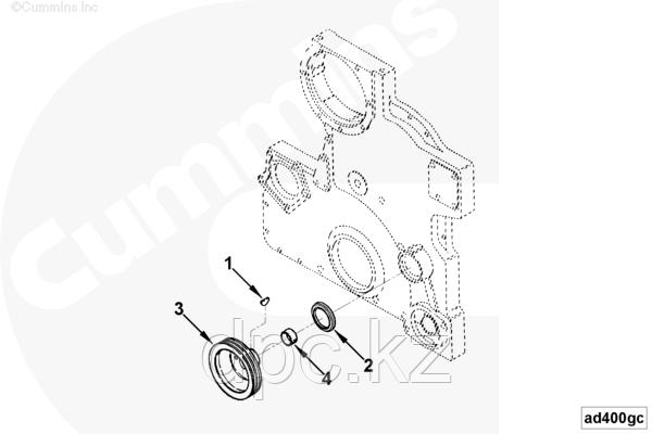 Кольцо уплотнительное шкива вспомогательных агрегатов Cummins KTA-19 3200287 181236 124239