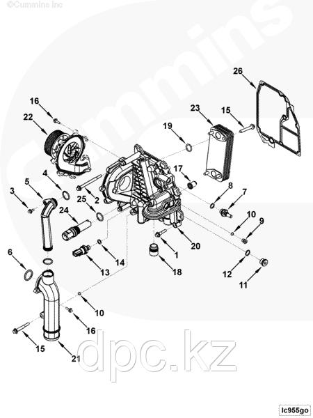 Подогреватель двигателя Cummins ISF2.8/3.8 4993383