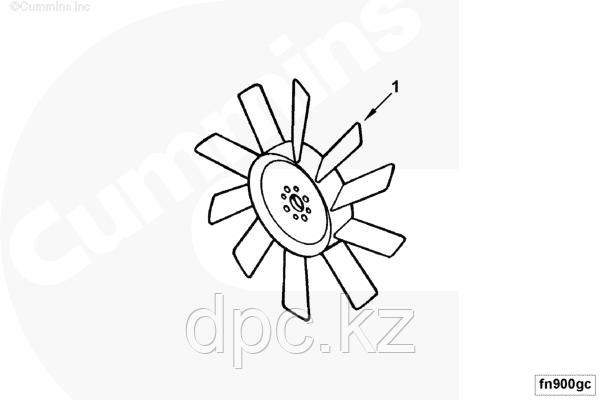 Вентилятор радиатора охлаждения (железный) Cummins ISB 4931799
