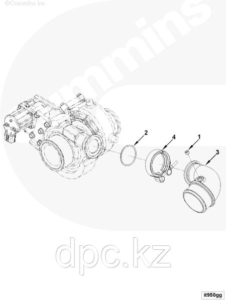 Уплотнительное кольцо впускного воздуховода Cummins 3883284