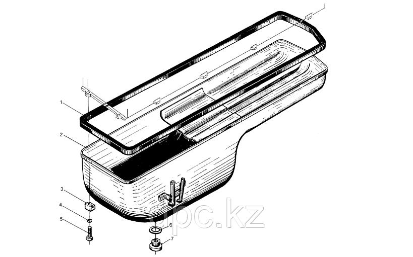 Прокладка поддона двигателя Weichai WD615 614150004
