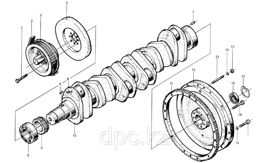 Стопорное кольцо подшипника маховика Weichai WD615  90003934310