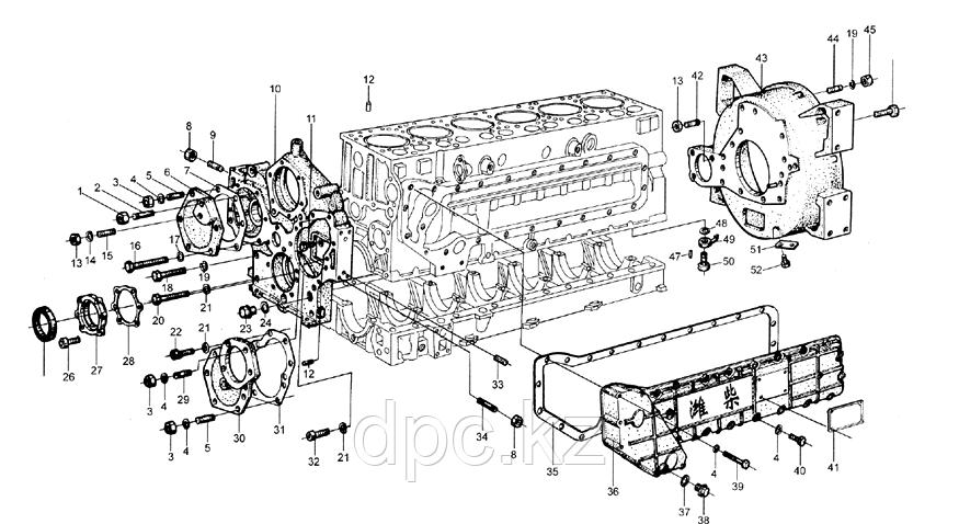 Крышка двигателя передняя Weichai WD615  612600010932