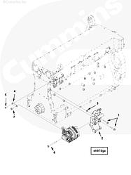 Кронштейн генератора Cummins ISG12 3696370 3696217