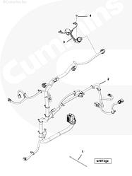 Жгут проводов на две форсунки Cummins ISG12 3698397 3697359 3696413