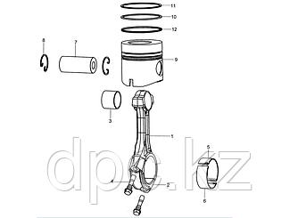 Кольца поршневые Weichai WD615 Евро-3 VG1540030006\7\8