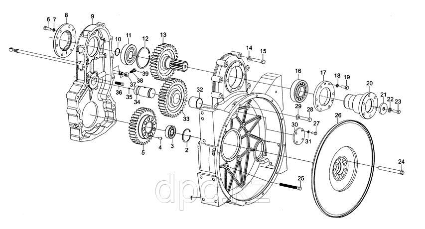 Цилиндрическая шпонка шестерни коленвала Weichai WD615 Евро-3  90003901418