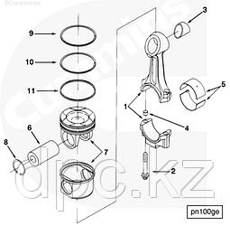 Комплект колец поршневых Cummins N14 4089489 3804500 3803358
