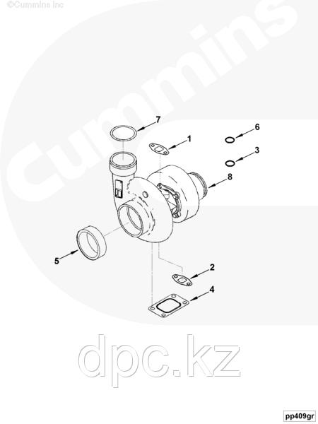 Прокладка трубки слива масла с турбины Cummins KTA19 3202117