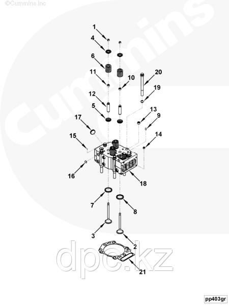 Клапан впускной Cummins QSK19 4986317 3631950