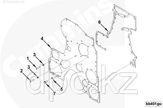 Прокладка крышки передней шестерен ГРМ Cummins QSK19 4922528 3090320