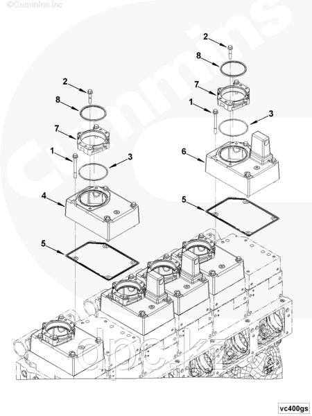 Прокладка клапанной крышки Cummins QSK19 4917451