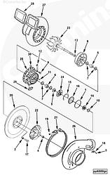 Прокладка турбины Cummins QST30 3092604