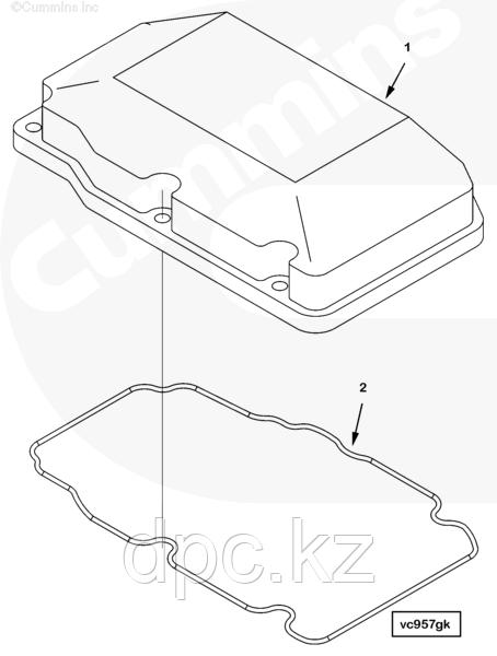 Прокладка клапанной крышки Cummins QSK23 4006217
