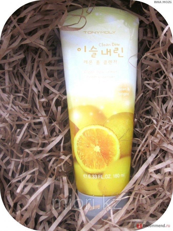 "Пенка для умывания ""Tony Moly Clean Dew Lemon Seed Foam Cleanser"" с осветляющим эффектом,150мл"