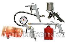 Набор пневмоинструмента 5 предметов быстросъемное соед., краскорасп. с нижним бачком 57302 (002)