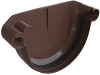 Заглушка желоба универсальная, диаметр 125 мм, Альта-Профиль (Россия), коричневая