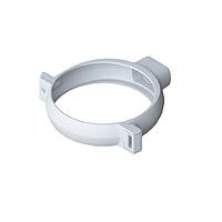 Хомут трубы водостока, ПВХ, диаметр 95 мм, Альта-Профиль (Россия) белый