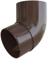Колено трубы водостока 45°, диаметр 95 мм, Альта-Профиль (Россия), коричневое, фото 1