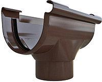 Воронка водосточной системы, диаметр 125/95 мм, Альта-Профиль (Россия) коричневая, фото 1