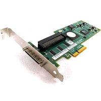 1U295 Контроллер RAID SCSI Dell PERC4/SC PCBX520-A2 LSI531020/Intel GC80302 64Mb Int-1x68Pin Ext-1xVHDCI RAID50 UW320SCSI LP PCI/PCI-X For