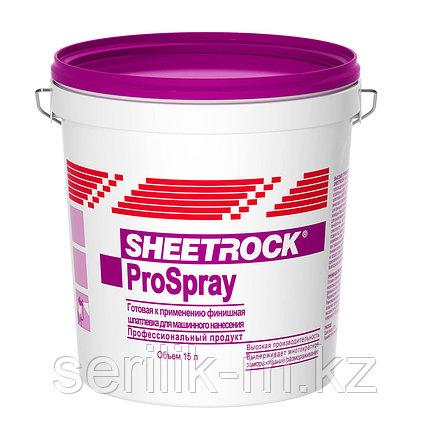 Финишная гот. шпатлевка SHEETROCK ProSpray для нанесение распылителем 15 л, фото 2