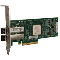 QLE8142-SR-CK Qlogic Dual-port 10GbE-to-PCI Express Converged Network Adapter with SFP+ SR optical modules supporting distances up to 300m
