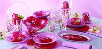 Столовый сервиз Luminarc Red Orchis 69 предметов на 8 персон