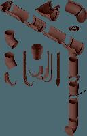 Водосточная система Альта-Профиль коричневая (Россия)