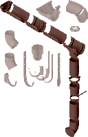 Водосточная система Альта-Профиль коричневая