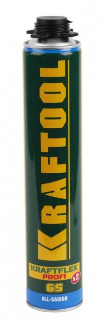 """Монтажная пена KRAFTOOL """"INDUSTRY"""" KRAFTFLEX PROFI 65, всесезонная, для монтажного пистолета, 800мл"""