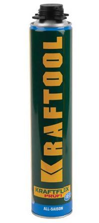 """Монтажная пена KRAFTOOL """"INDUSTRY"""" KRAFTFLEX PROFI, всесезонная, для монтажного пистолета, 750мл"""