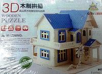 Деревянный пазд 3Д домик