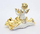"""Фарфоровая статуэтка """"Ангел с мандолиной"""". Италия. Ручная работа, фото 2"""