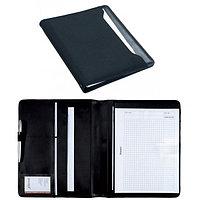 Папка для конференций формат: А4(32x26x2см) текстиль блокнот черная