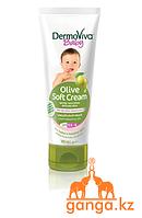 Детский крем с оливковым маслом (Olive Soft Cream DermoViva Baby), 100 мл.