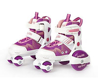Детские роликовые коньки-квады, р. 30-33, фиолетовые