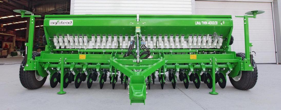 Сеялка зерновая 2-х дисковая с прикатывающими катками Agrolead Lina 2500-5000 (Турция), фото 2