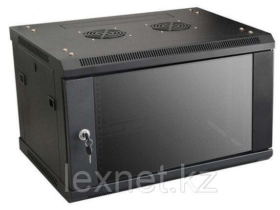 Шкаф настенный 6U, 600*600*367, цвет чёрный, фото 2