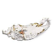 Блюдо из керамики Лебедь. Ручная работа, Италия