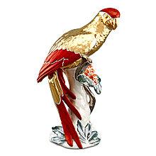 Статуэтка Попугай. Керамика, ручная работа, Италия